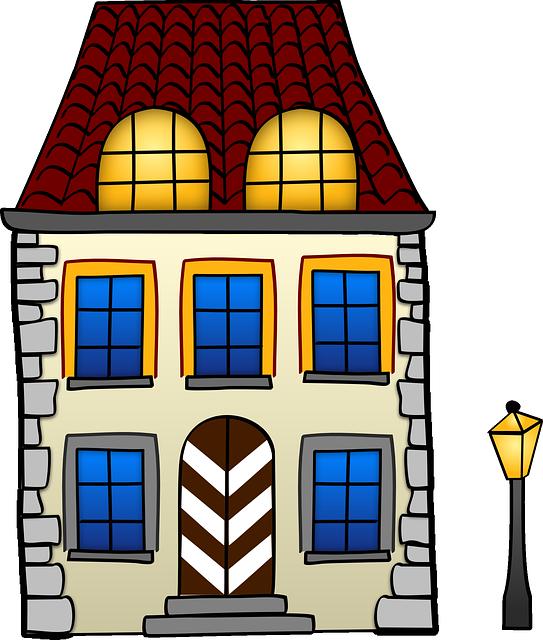 House, Home, Little, Streetlight, Building