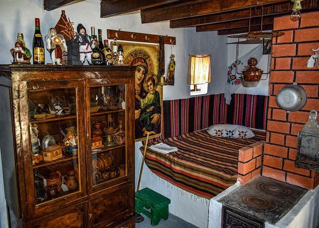 House, Moldavian, Room, Furniture, Traditional