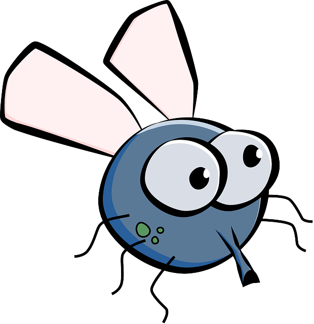 Housefly, House Fly, Fly, Insect, Wings, Eyes, Cartoon