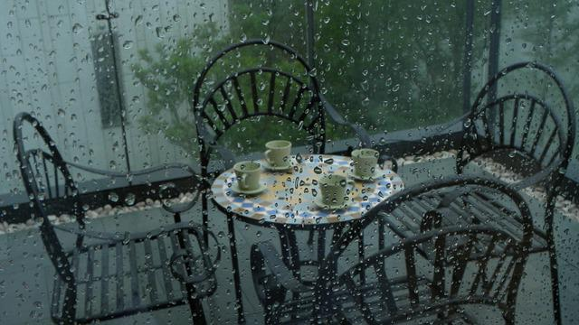 Household, Home, Rain, Balcony