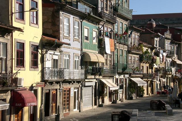 Portugal, Porto, Facade, Old Town, Houses Facades