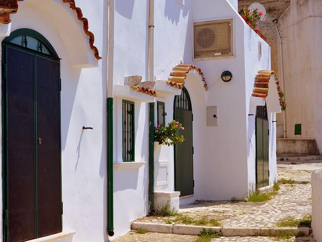 Entrance, Door, Alley, Houses, Peschici, Gargano