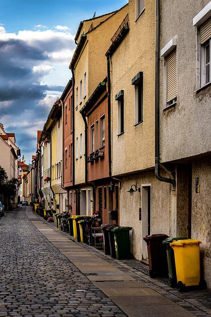 Alley, Middle Ages, Augsburg, Bavaria, Houses Gorge