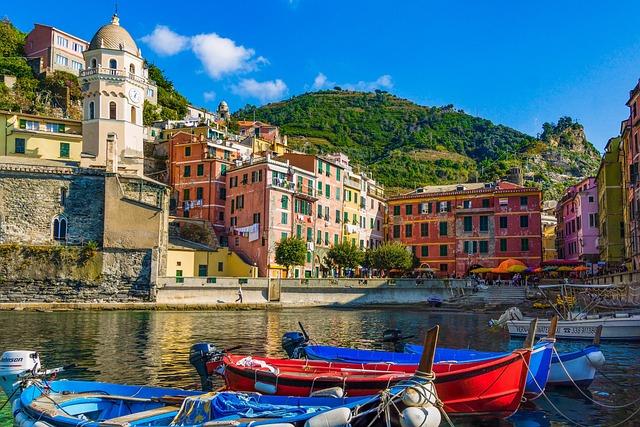 Italy, Sea, Houses, Cinque Terre, Mediterranean