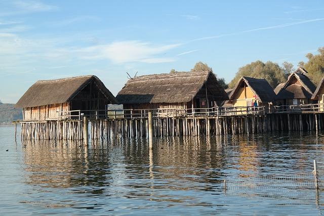 Stilt Houses, Stilt Buildings, Houses, Wooden Dwellings