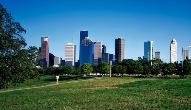 Houston, Texas, City, Urban, Cityscape, Buildings, Park