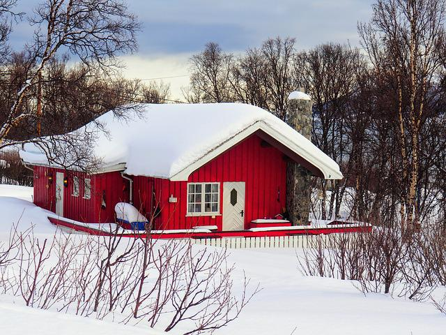 Snow, Winter, Cold, Hovel, Wood, Norway, Lapland
