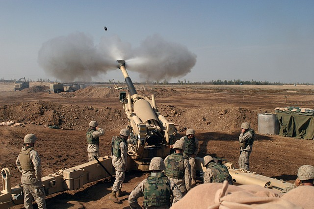 Howitzer, Mortar, Grenade, Weapon, Iraq, Marines