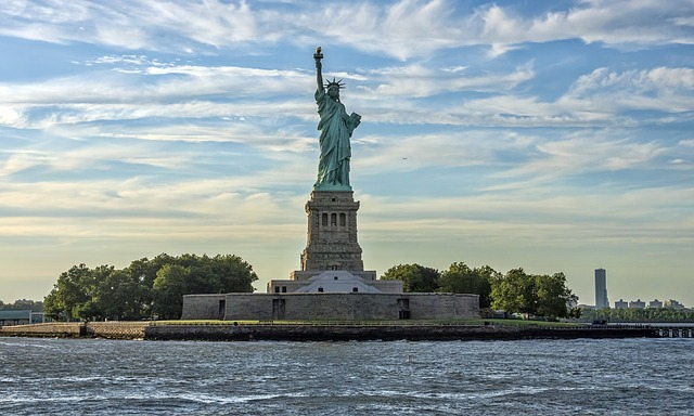 New York, City, Urban, Hudson, River, Statue Of Liberty