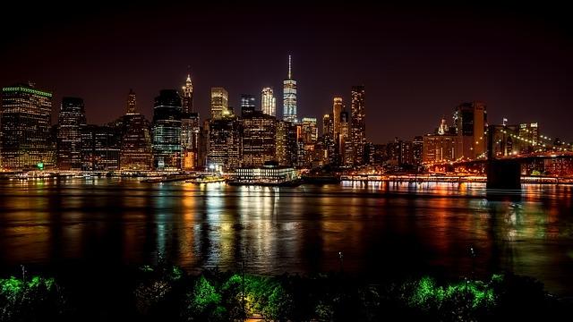 New York City, Panorama, Urban, Hudson, River, Water