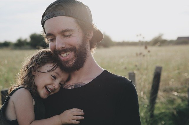People, Father, Daughter, Smile, Happy, Hug, Carry