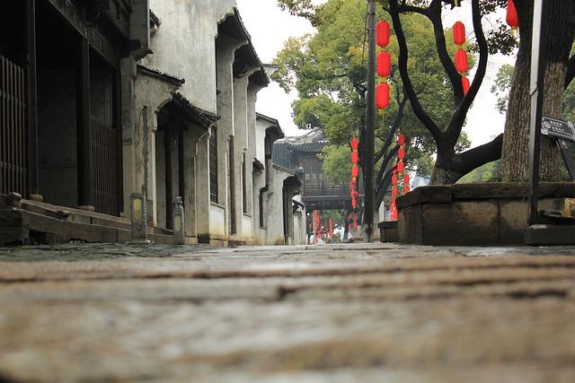 Wuxi, Rain, Huishan Ancient Town, The Ancient Town
