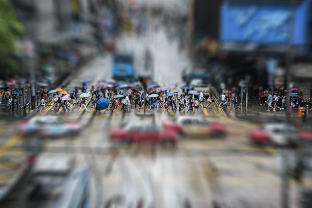Crowd, Hong Kong, Human, Big City, China, Urban