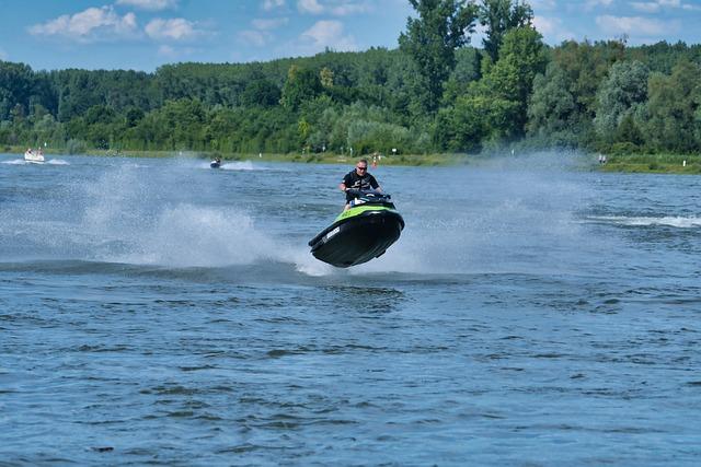 Man, Human, Summer, Vacations, Jet Ski, Fun, Water, Joy