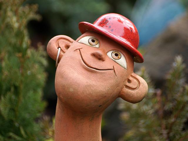 Human, Man, Figure, Sound, Garden Sculpture, Hat, Funny