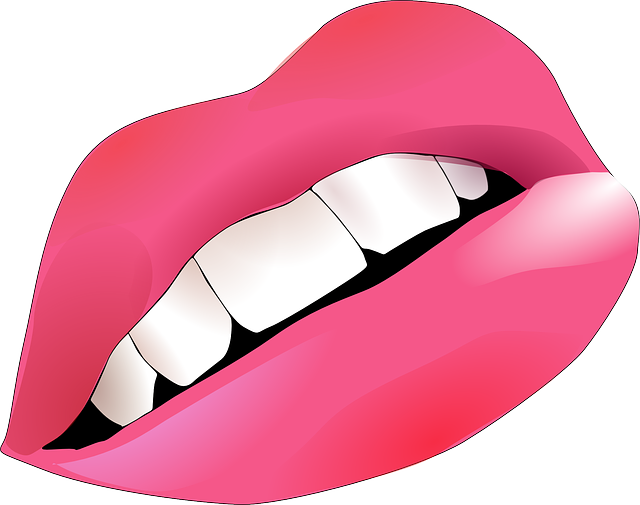 Lips, Pink, Smiley, Mouth, Teeth, Human, Body, Girl