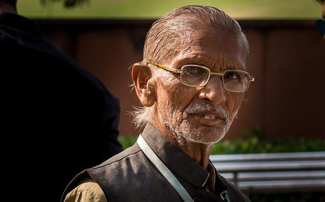 Indians, Gandhi, Portrait, Glasses, Man, Human, Head