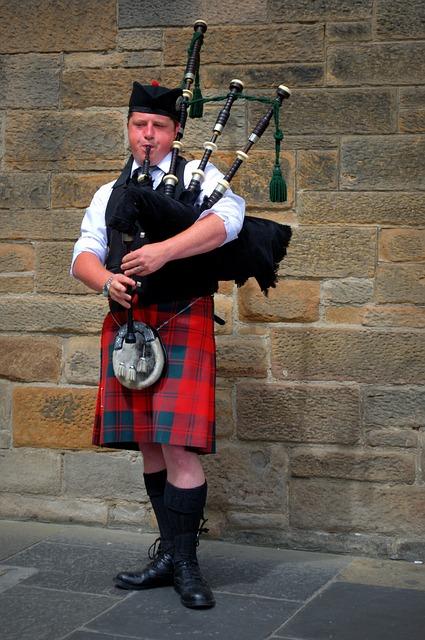 Bagpipes, Kilt, Scotland, Jock, Human