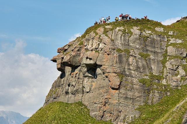 Mountain, Human, Landscape, Wanderer, Alpine, Group