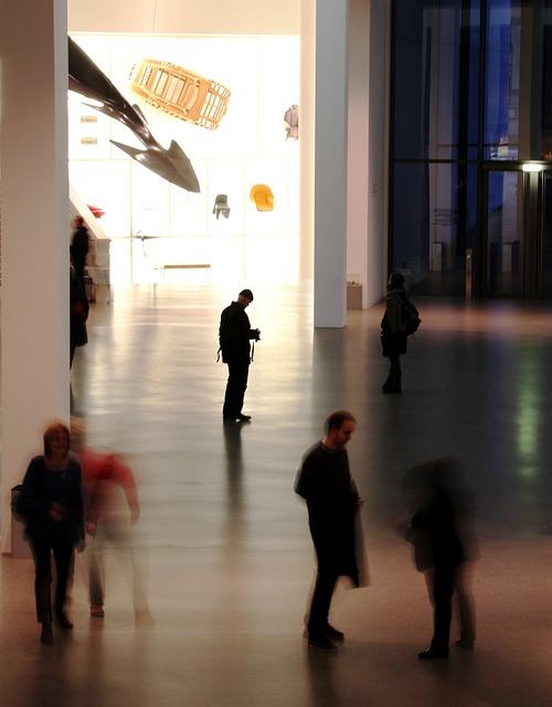 Museum, Art Gallery, Munich, Human, Movement, Stand