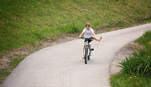 Person, Human, Child, Girl, Bike, Cycling, Away, Nature