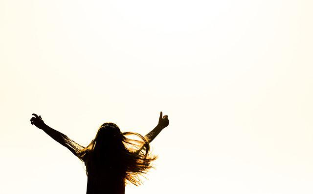 Person, Girl, Human, Joy, Sunset, Sun, Orange