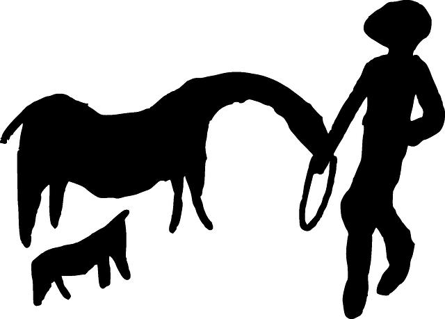 Cowboy, Iberia, Petroglyph, Spain, Ancient, Human
