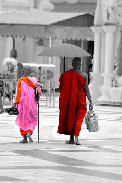 Burma, Myanmar, Monk, Buddha, Stupa, Human, Pagoda