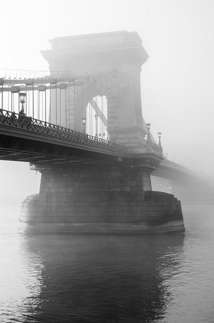 Europe, Hungary, Budapest, Bridge, Chain Bridge