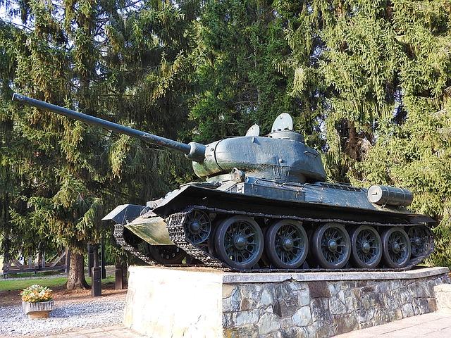 Panzer, T-34, War Memorial, Hungary