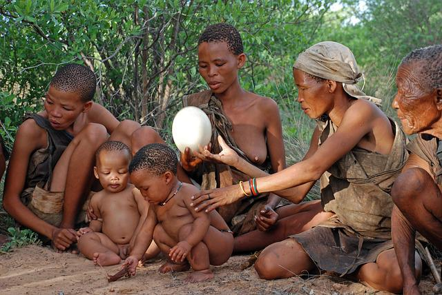 Bushman, Indigenous People, Hunter Gatherer, Family