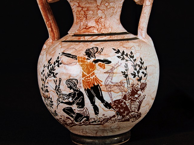 Vase, Amphora, Painting, Beauty, Hunting, Arc, Arrow