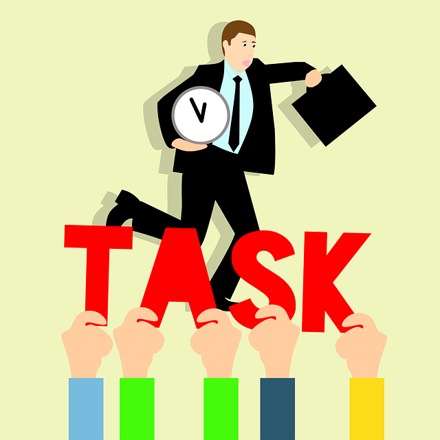 Business Tasks, Hurry Up To Work, Idea, Holding Clock