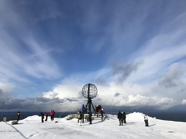 Norway, Hurtigruten, Scandinavia, Norge, Snow, Sky