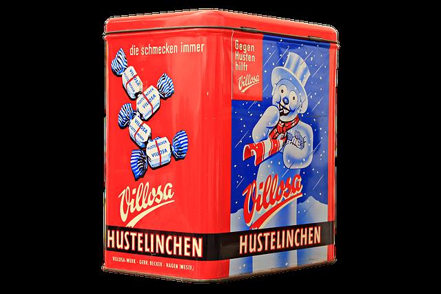 Hustelinchen, Cough Drops, Storage Jar, Box, Container