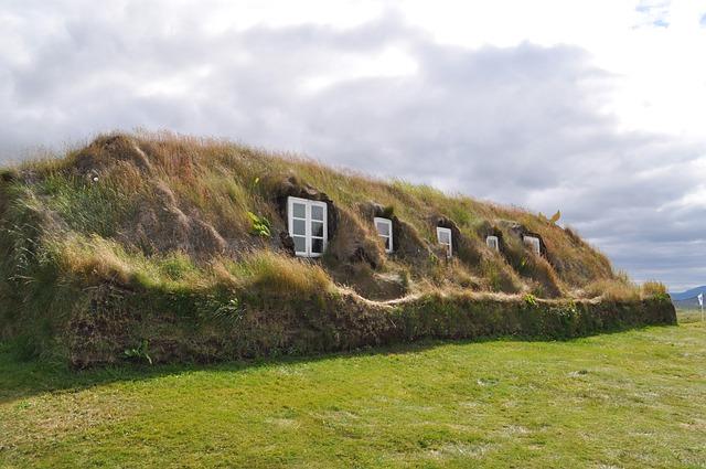 Torfhaus, Grass Roof, Iceland, Hut, Building, Gamme