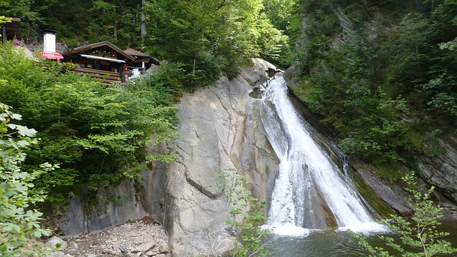Allgäu, Castle Hill, Starzlachklamm, Water Slide, Hut