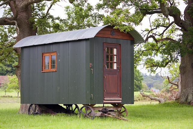 Shepherds Hut, Hut, Nature, Grass, Scene, Green, Rural