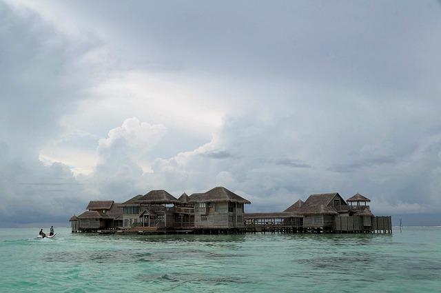 Maldives, Hut, Shack, Villa, Beach, Island, Sea, Resort