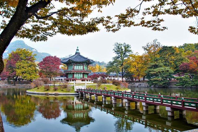 Hyangwonjeong Pavilion, Pavilion, Pond, Bridge, Pagoda
