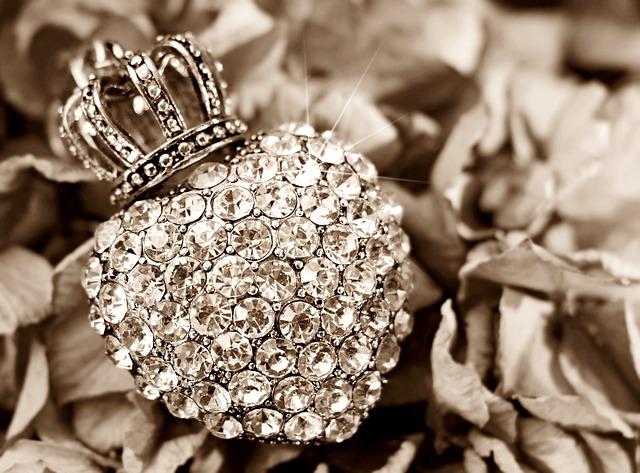 Heart, Crown, Hydrangea, Flower, Rhinestone Heart, Love