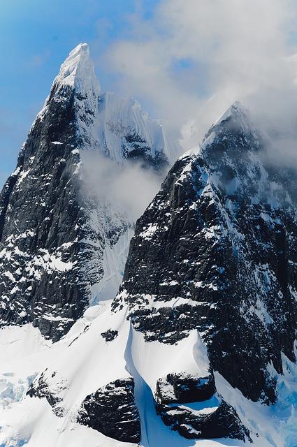 Mountains, Antarctica, Ice, Ice Bergs, Scenery