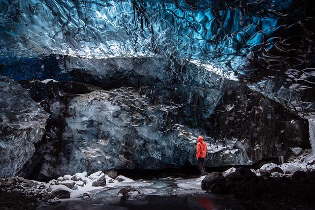 Glacier, Ice Cave, Iceland, Adventure, Cave, Cold, Ice
