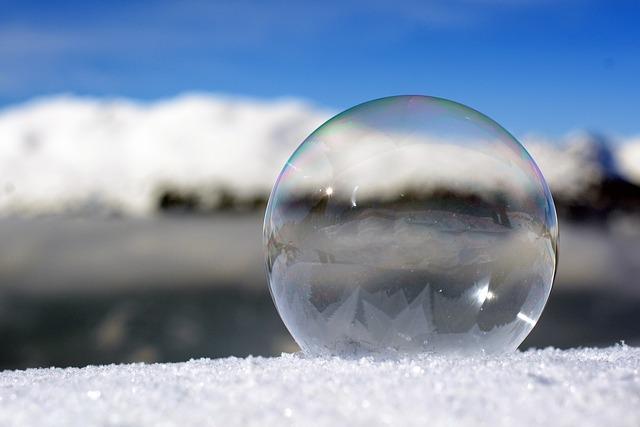 Soap Bubble, Freezer, Winter, Cold, Ice Cold, Ice