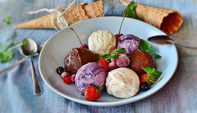 Ice Cream, Gelato, Dessert, Sweet, Fruits, Berries