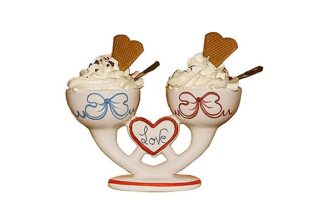 Ice Cream Sundae, Stand-in, Ice, Ice Cream, Cream Cups