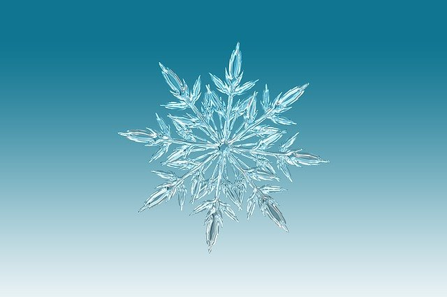 Ice Crystal, Crystal, Snowflake, Christmas