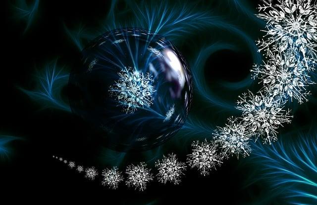 Ball, Christmas Ornament, Snowflake, Ice Crystal