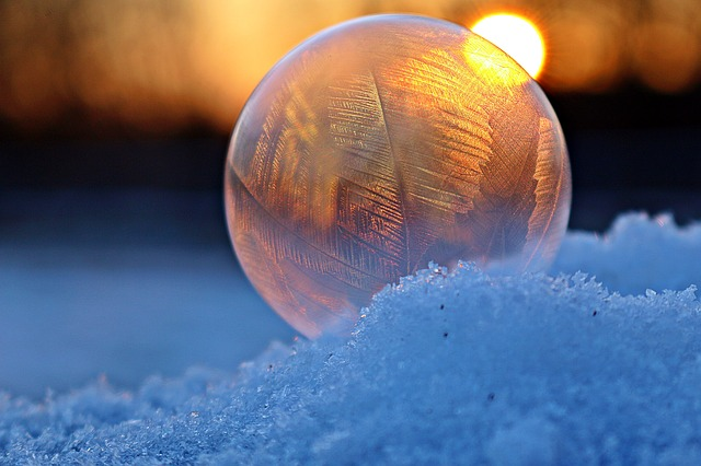 Soap Bubble, Ice Crystal, Ice-bag, Frost Globe