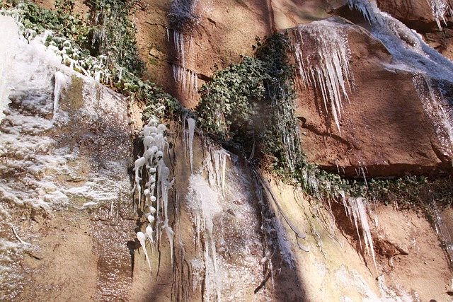 Ice Climbing, Cascada, Winter, Ice Formations